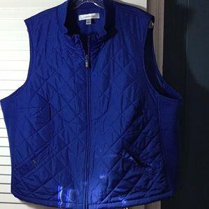 Royal blue quilted vest